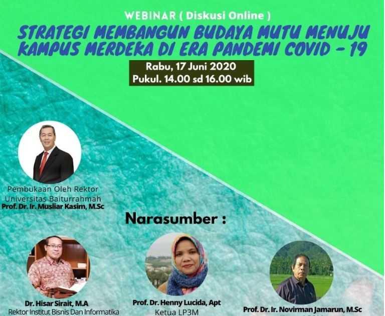 Webinar Diskusi Online Univiversitas Baiturrahmah