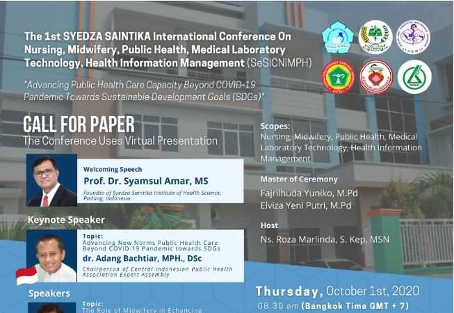 The 1st Syedza Saintika International conference on Nursing, Midwifery, Medical Laboratory Technology, Public Health, & Health Information Management CALL FOR PAPER