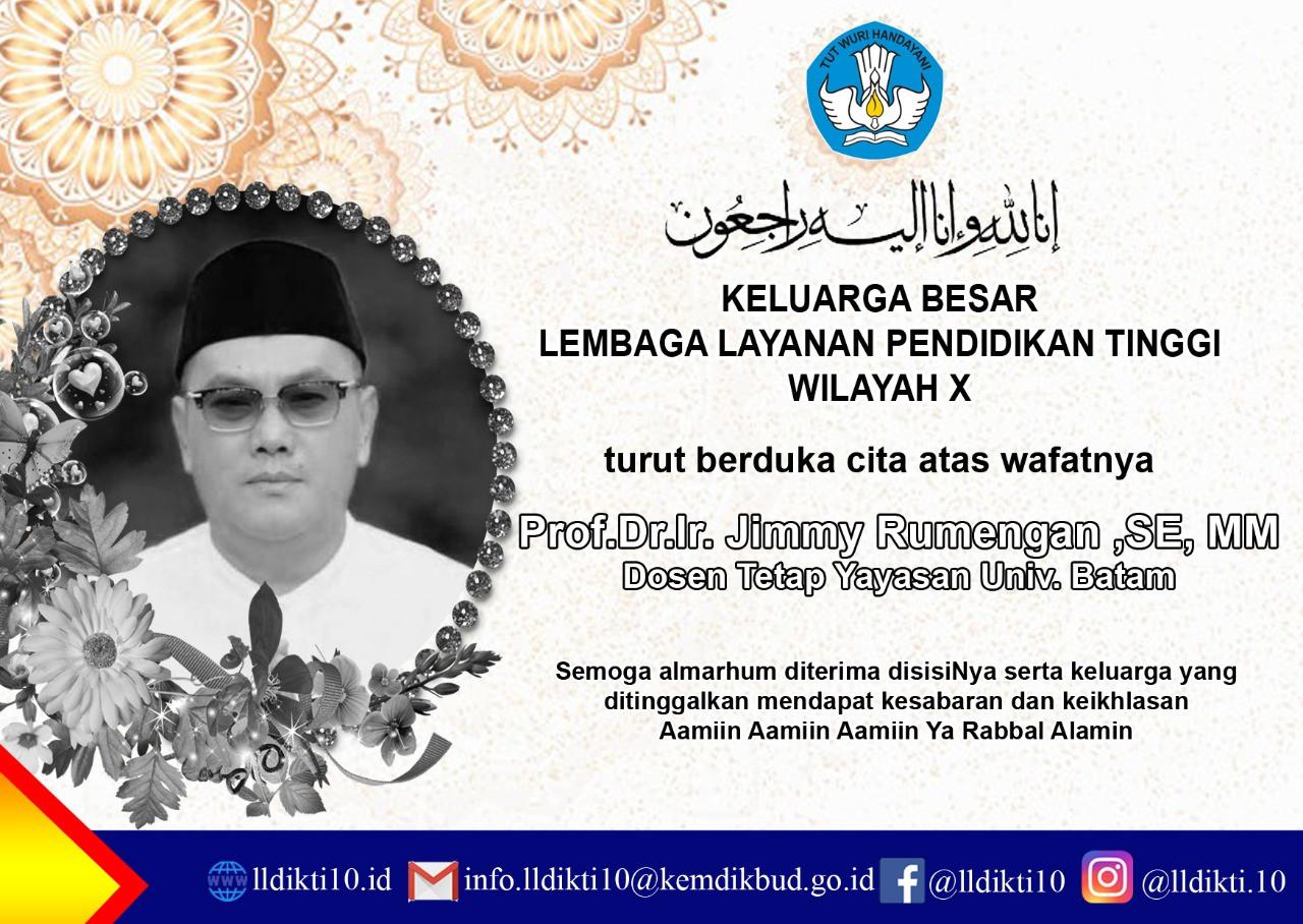 Guru Besar Universitas Batam, Jimmy Rumengan Tutup Usia