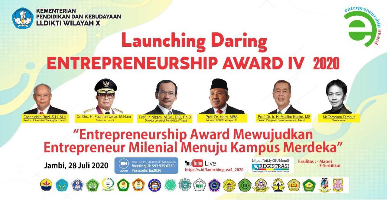 Launching Entrepreneurship Award IV LLDIKTI Wilayah X Tahun 2020